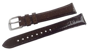 Michele Michele 16mm Brown Sparkle Leather Watch Band Strap
