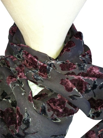 Preload https://img-static.tradesy.com/item/111038/black-burgandy-and-forest-green-double-sided-sheer-printed-scarfwrap-0-0-540-540.jpg