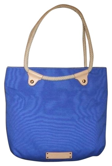 Preload https://item1.tradesy.com/images/gianni-bini-royal-blue-canvas-with-leather-trim-tote-1110385-0-0.jpg?width=440&height=440