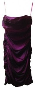 Betsey Johnson Detachable Strapless Rouched Silk Dress