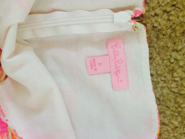 Lilly Pulitzer Summer Preppy Colorful Mini Skirt White, Pink, Yellow