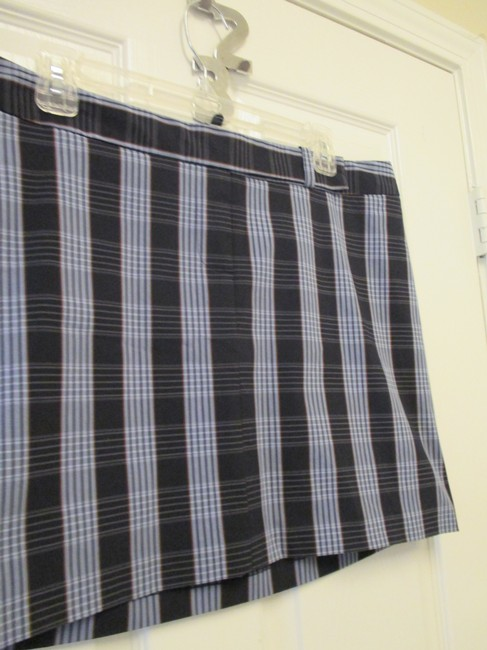 Laundry by Shelli Segal 12 Plaid Saks Fifth Avenue New W/ Out Tags Skirt Navy