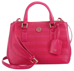 Tory Burch Satchel in Poppy coral carnation red pink