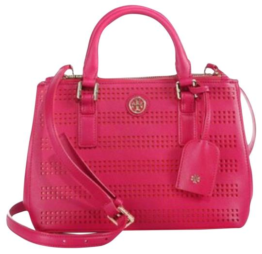 Preload https://img-static.tradesy.com/item/11104270/tory-burch-robinson-perforated-double-zip-micro-tote-poppy-coral-carnation-red-pink-leather-satchel-0-1-540-540.jpg
