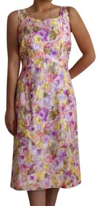 Vintage short dress Multicolor Floral on Tradesy
