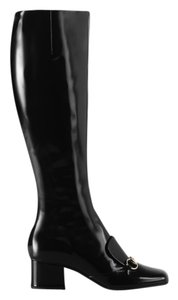 Gucci Lilian Polished Patent Black Boots