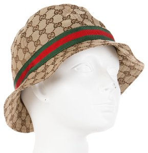 Gucci Brown and tan Gucci GG Guccissima monogram canvas bucket hat New M Medium