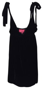 Juicy Couture short dress Black Velour on Tradesy