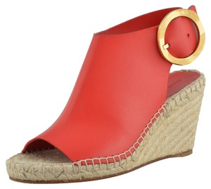 Céline Red Wedges