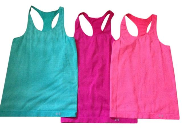 Item - Turquoise Deep Pink and Bright Coral Pink Activewear Top Size 8 (M, 29, 30)