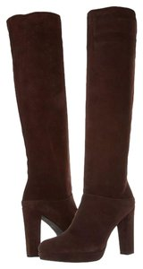 Stuart Weitzman Knee-high Leather Suede Brown Boots