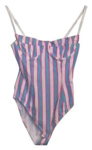 American Apparel Top Pink, blue and white stripes