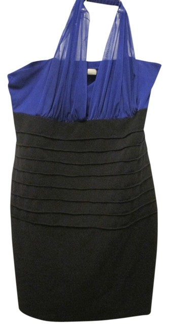 Item - Blue Bodycon Formal Night Out 22). Mid-length Cocktail Dress Size 22 (Plus 2x)