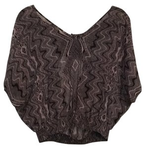 Guess Top Taupe and black