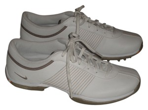 Nike Item Number #335938 *water Resistant Synthetic Leather *full-length Phylon Midsole *nike Power Platform Flex *integrated White & Light Taupe Athletic