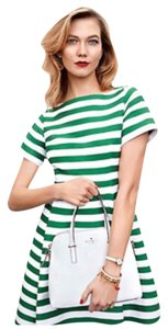 Kate Spade Stripes Fit And Flare Dress