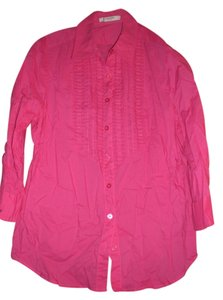 Liz Claiborne Button Down Shirt bright pink