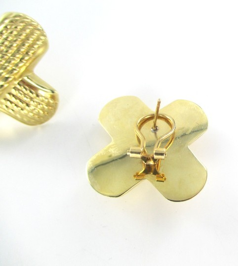 Other 14KT YELLOW GOLD EARRINGS X DESIGN
