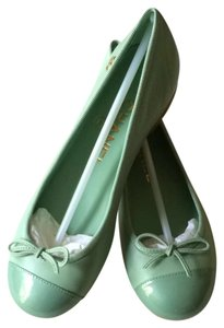 Chanel Cc Balet Casual Luxury Mint Green Flats