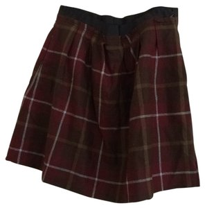 Lands' End Mini Skirt Plaid