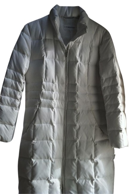 Item - White Quilted Light Weight Washable Coat Size 10 (M)