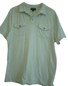 Banana Republic 100% Cotton Polo Shirt Top Bone