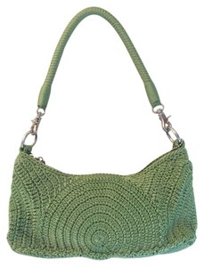 The Sak Crochet Green Clutch