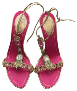 Rene Caovilla Pink with pastel tone stones/gold Formal