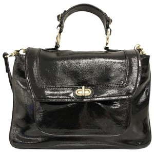 Rebecca Minkoff Classic Patent Patent Leather Leather Satchel in Black
