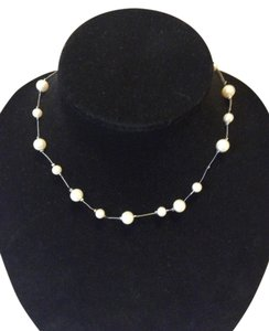 Set of (2) faux pearl and bead necklaces