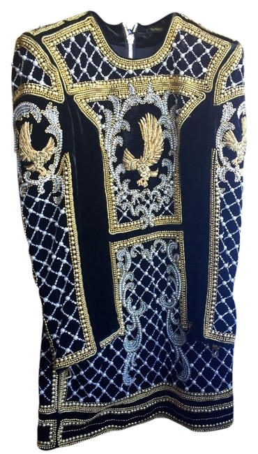 Item - Gold Mid-length Night Out Dress Size 4 (S)