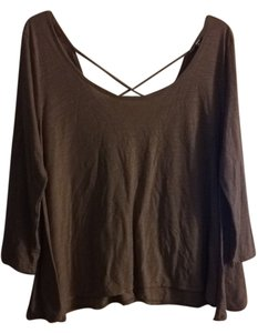 American Eagle Outfitters Shirt Top Tan