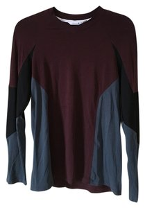 Theory T Shirt Burgundy