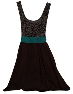 Kimchi Blue short dress Grey, turquoise, brown on Tradesy