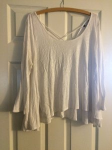 American Eagle Outfitters Shirt Crisscross Backing Top White