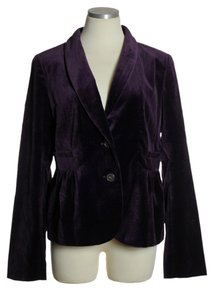 J.Crew Velvet Two-button Purple Blazer