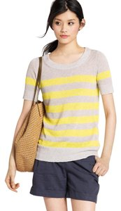 J.Crew Linen Blend Stripe Short Sleeve Sweater
