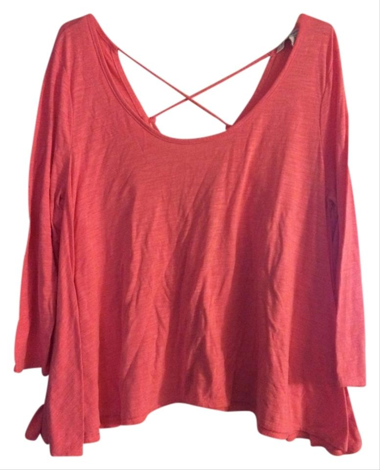 American Eagle Outfitters Pink Shirt With Crisscross
