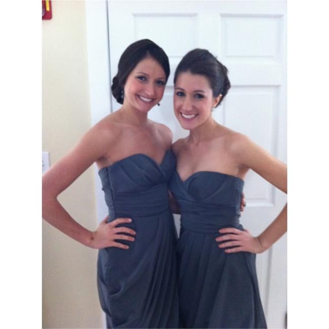 Item - Gray/Charcoal Polyester Lining Formal Bridesmaid/Mob Dress Size 8 (M)