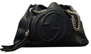 Gucci Soho Leather Purple Shoulder Bag