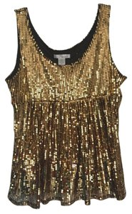 WD.NY Glitter Top Gold sequin