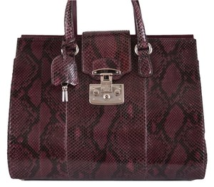 Gucci Python Lady Lock Satchel in Purple
