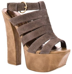 Jessica Simpson cloud grey Platforms