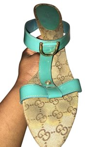 Gucci Teal Sandals