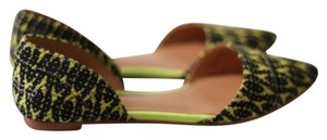 J.Crew Black and yellow Flats