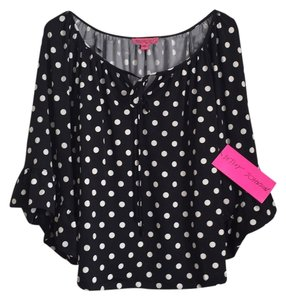 Betsey Johnson Top Black/white