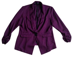 Maurices 3/4 Sleeve Plum Blazer