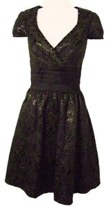 Decode 1.8 Paisley Metallic Beaded Dress