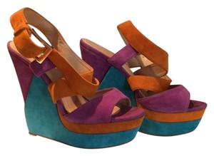 ALDO PRCIED TO SELL!! Purple Orange Teal Wedges