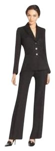 Tahari Tahari by ASL Petite Black Suit Patterned Jacket & Pants 12 Petite Retail $280